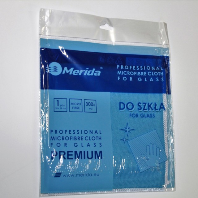 Merida Microfiber Porfessional klaasilapp 38x38cm - Pesumati