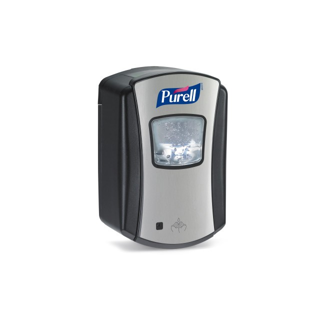 PURELL® LTX-7 touch-free dispenser, 700ml, chrome/black - Pesumati