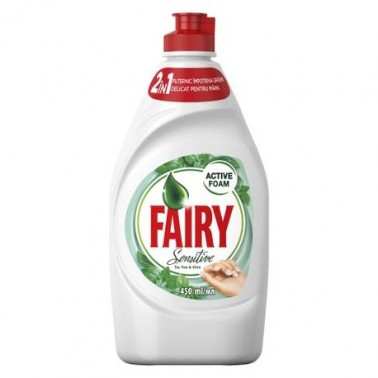 Fairy Sensitive Tea Tree & Mint 450ml nõudepesuvahend - Pesumati