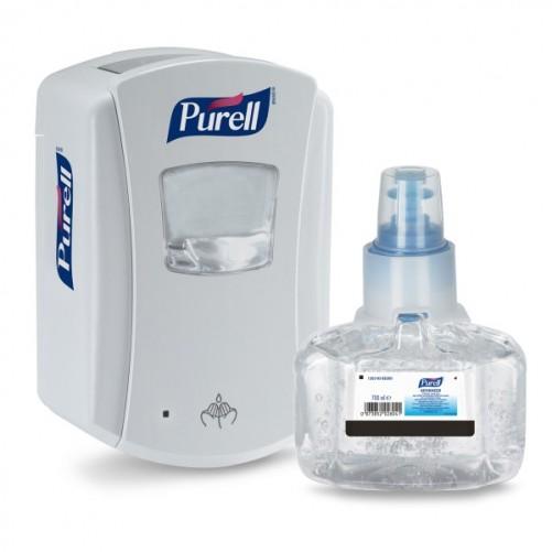 Purell Starter Kit LTX-7 dosaator(valge) + desinfitseerimisvahend Purell Advanced Hygienic Hand Rub 700ml - Pesumati