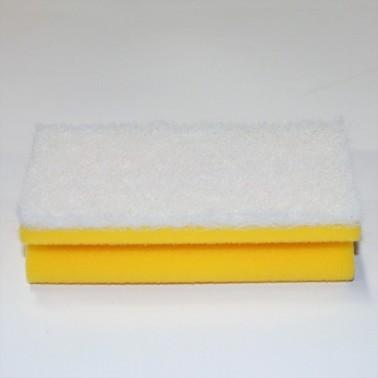 Mittekriimustava abrasiiviga küürimissvamm 15cm, valge - Pesumati
