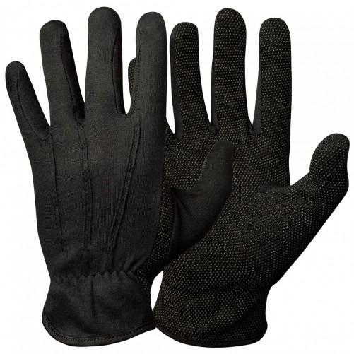 Puuvillased kindad mikrokumminuppudega, mustad M-XL - Pesumati