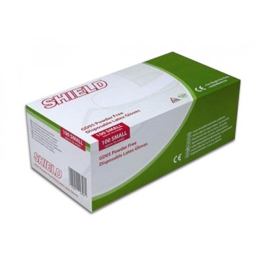 Kindad SHIELD, ühekordsed latekskindad, valged, puudrita 100tk/pk, S-XL - Pesumati