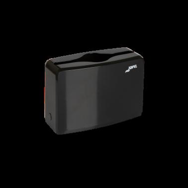 Jofel napkin dispenser, rectangular tabletop, black - Pesumati