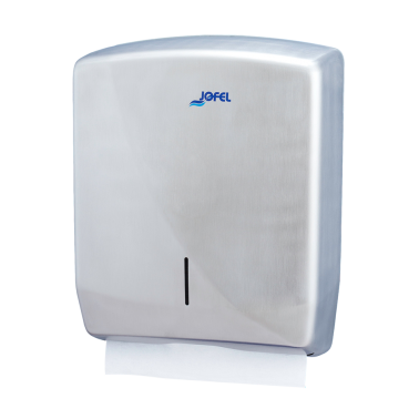 "Jofel ""Futura"" Z-fold towel dispenser 343x263x140mm, grey - Pesumati"