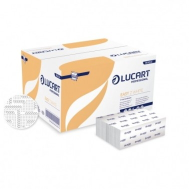 Lucart Easy Z White folded paper towel - Pesumati