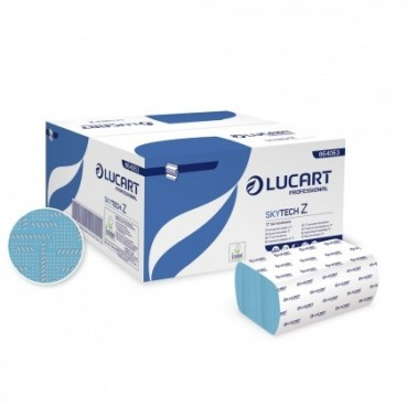 Lucart Skytech Z, blue folded paper towel - Pesumati